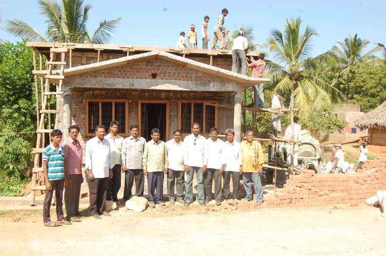 Church building in process of being constructed in India