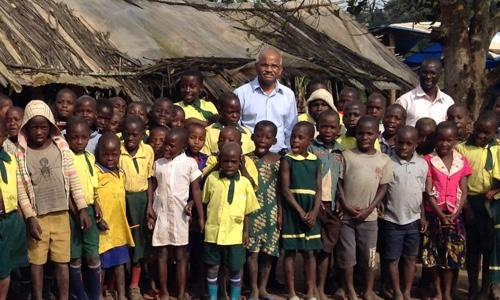 Ugandan orphans with Dr. Paturi